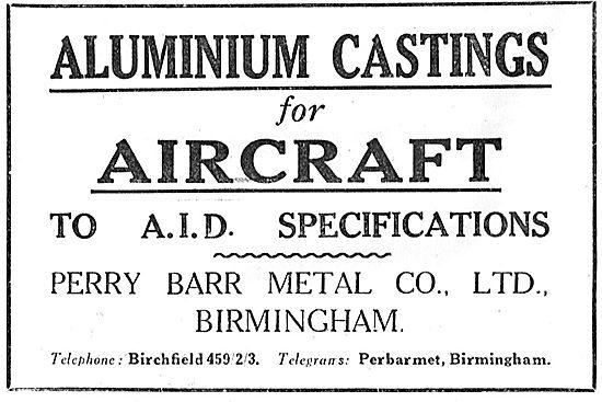Perry Barr Aluminium Castings - AID Spec