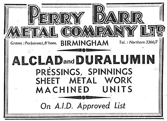 Perry Barr Aluminium Castings - Alclad. Duralumin