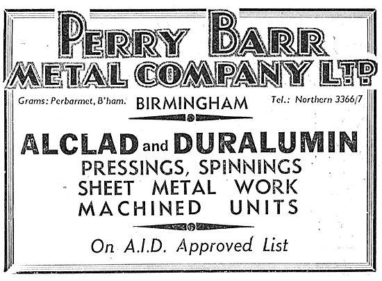 Perry Barr Aluminium Castings - Alclad & Duralumin Pressings