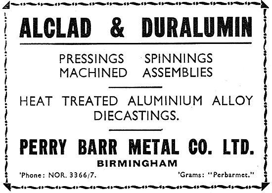Perry Barr Alclad & Duralumin Castings.