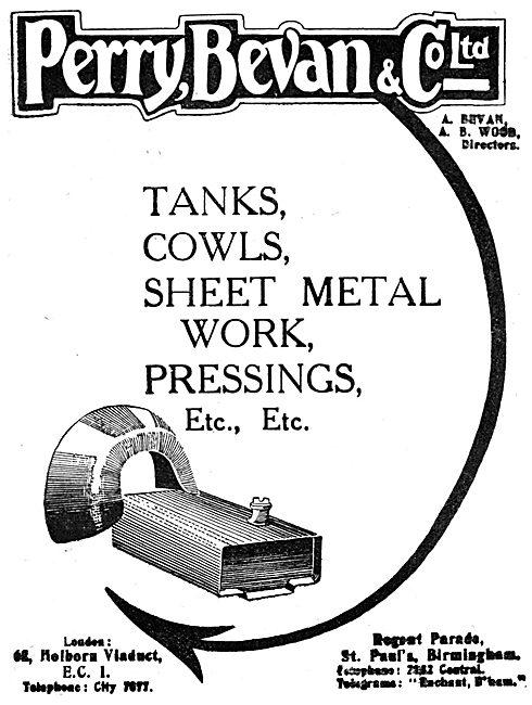Perry Bevan & Co Ltd - Aircraft Sheet Metal Work