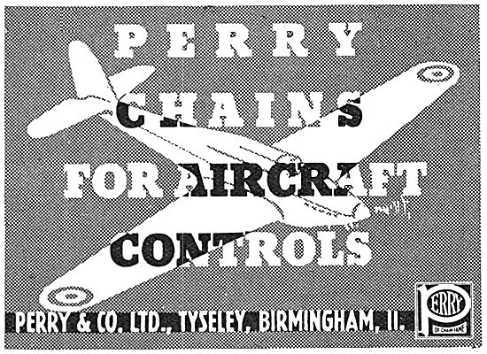 Perry Chains For Aircraft Controls 1939