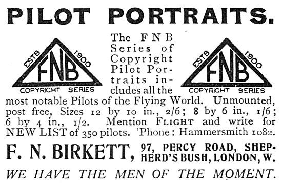 F.N.Birkett Pilot Portraits 1915