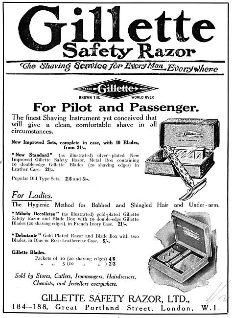 Gillette Safety Razors 1925