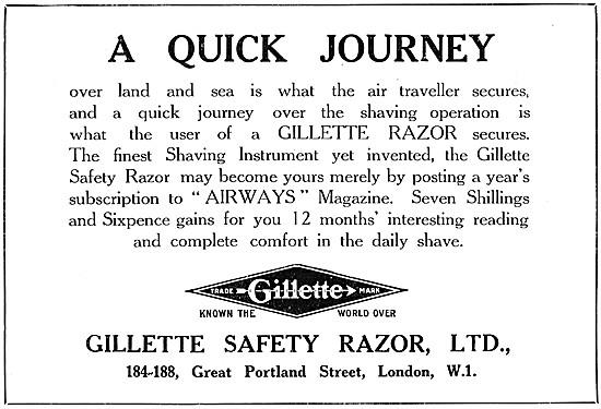 Gillette Safety Razor 1926