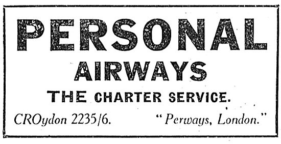 Personal AirwaysCroydon - The Aircraft Charter Service