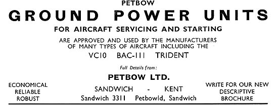 Petbow Aircraft Ground Power Units