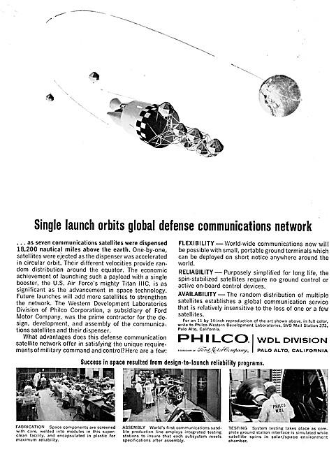 Philco WDL Division Satellite Technology 1966