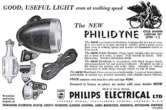 Philips Philidynde Dynamo Bicycle Lighting Set