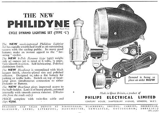 Philips PHILIDYNE Bicycle Dynamo Lighting Set