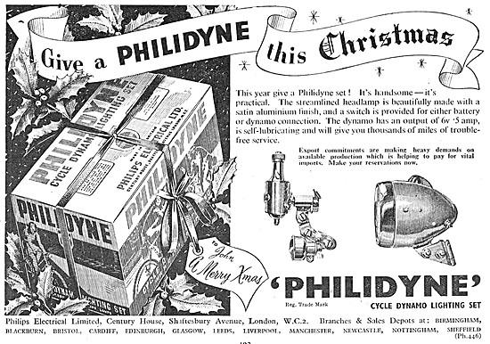 Philips PHILIDYNE Bicycle Lighting Set
