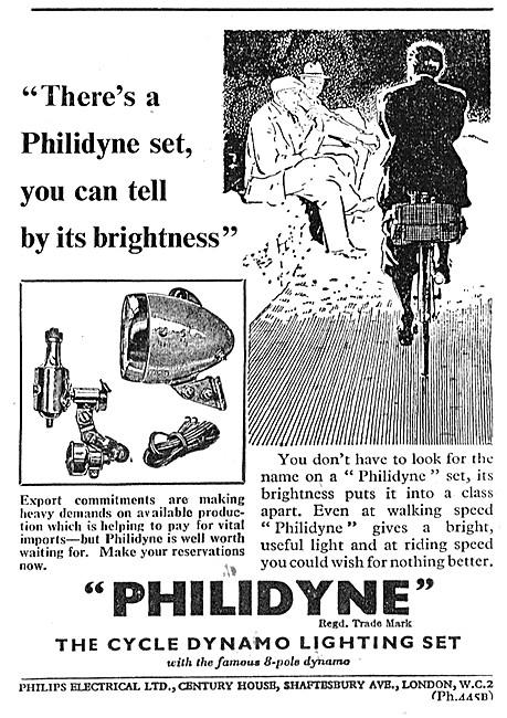 Philips PHILIDYNE Cycle Dynamo Lighting Set