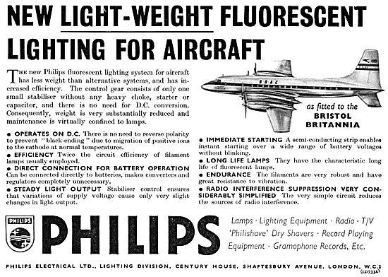 Philips Aircraft Lighting Equipment