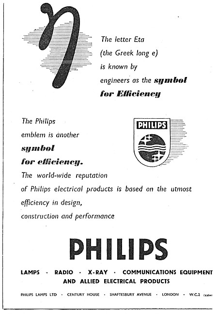 Philips Lamps, Radio, X-Ray & Electrical Products