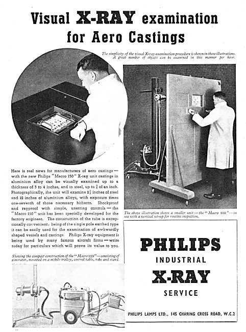 Philips Industrial X-Ray Service 1939