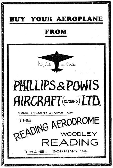Phillips & Powis Aircraft Sales 1930