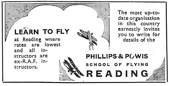 Phillips & Powis Flying School - All Instructors Are Ex RAF