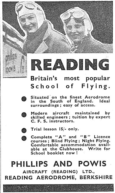 Phillips & Powis - Briatin's Most Popular School Of Flying