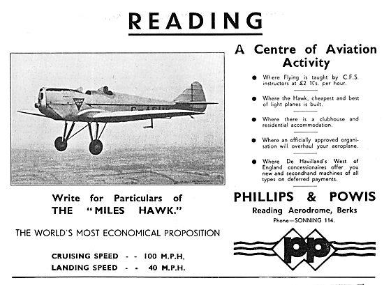 Phillips & Powis - Miles Hawk - Reading  Aerodrome