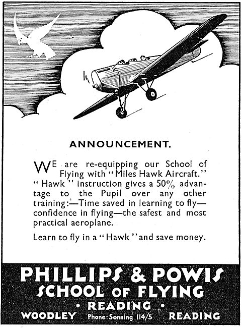 Phillips & Powis School Of Flying Reading Woodley