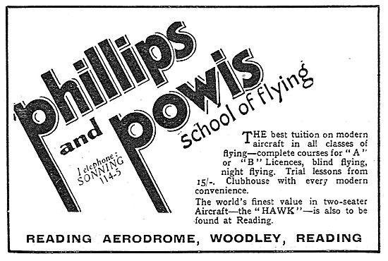 Phillips & Powis School Of Flying, Reading Aerodrome, Woodley.