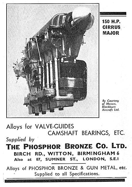 Phosphor Bronze Company - Alloys For Valve Guides & Camshafts