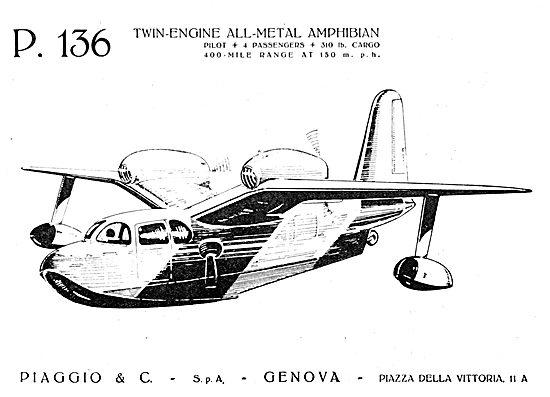 Piaggio P.136 Amphibian 1950