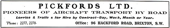 Pickfords - Pioneers Of Aircraft Transport