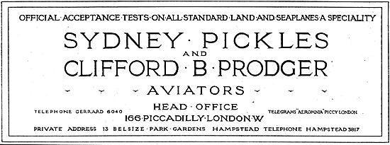 Sydney Pickles & Clifford Prodger - Acceptance Test Pilots