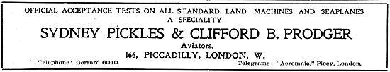 Sydney Pickles & Clifford Prodger For  Acceptance Test Flights