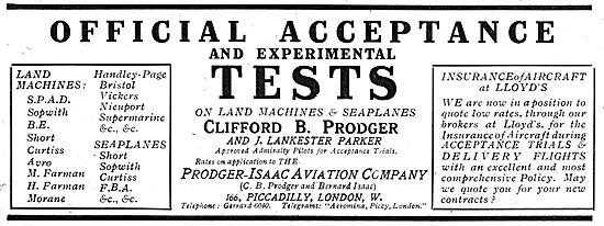Clifford B Prodger & J.Lankester Parker - Acceptance Tests