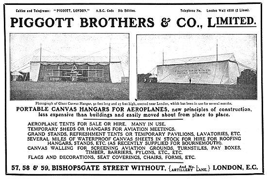 Piggott Brothers - Aeroplane Sheds, Tents & Hangars