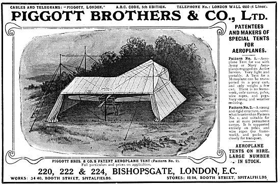 Piggott Brothers Aeroplane Tents