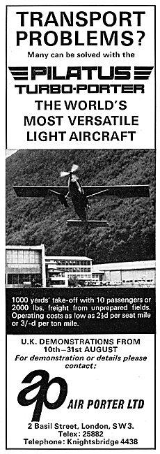 Pilatus Turbo-Porter. Air Porter 1966