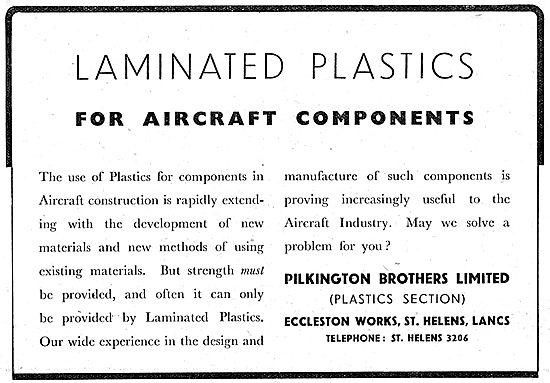 Pilkington  Laminated Plastics For Aircraft Components
