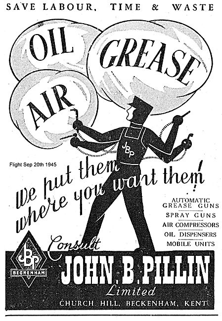 John B. Pillin - Grease Guns, Spray Guns & Compressors