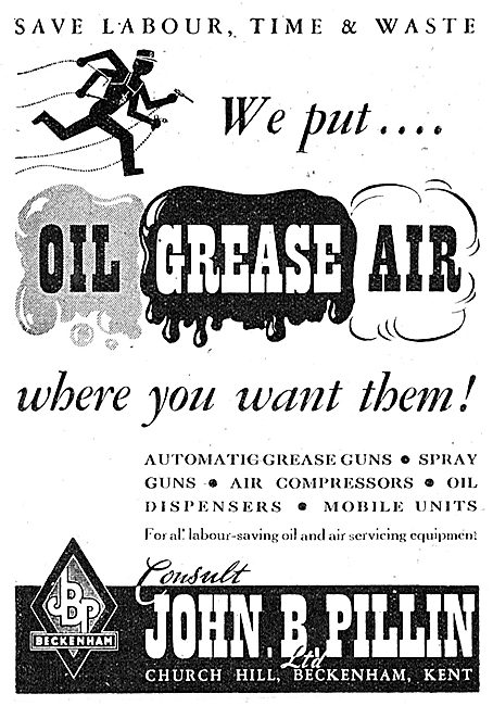John B. Pillin Oil Dispensers, Grease Guns & Air Compressors