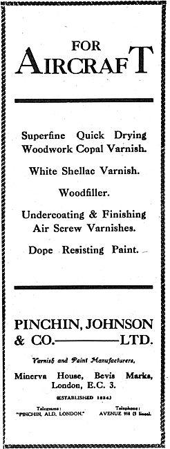 Pinchin, Johnson & Co. Copal Varnish For Aircraft