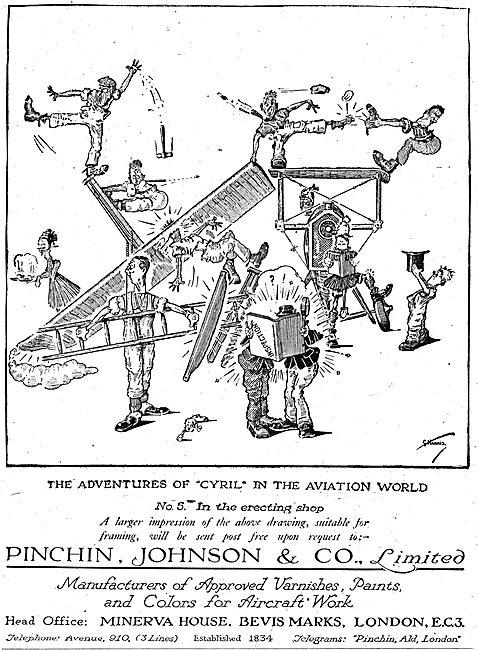 Pinchin Johnson Aircraft Paints & Varnishes. Cyril Series #5