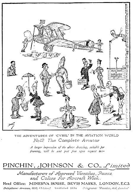 Pinchin Johnson Aircraft Paints & Varnishes 1919