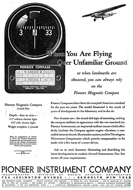 Pioneer Magnetic Compass