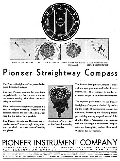 Pioneer Straightway Compass