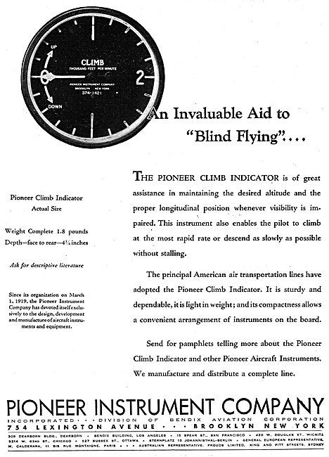 Pioneer Climb Indicator
