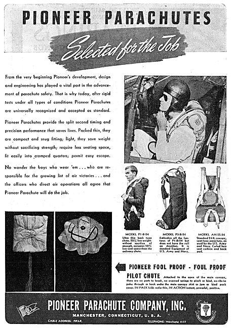 Pioneer Parachutes 1943 Advert