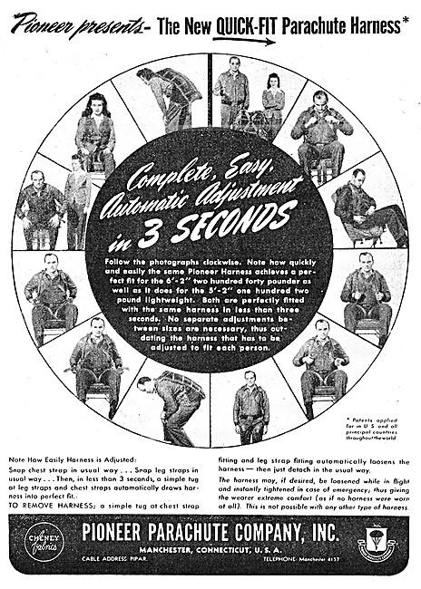 Pioneer Parachutes 1945 Advert