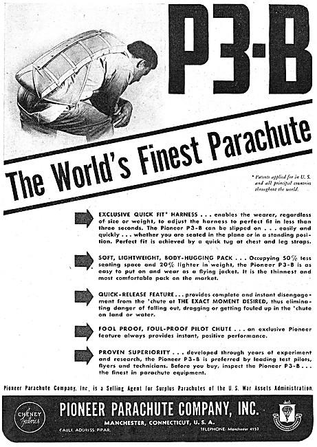 Pioneer P3-B Parachutes 1946