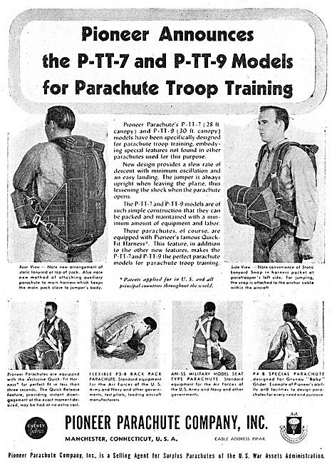 Pioneer Parachutes P-TT-7   P-TT-9 1947