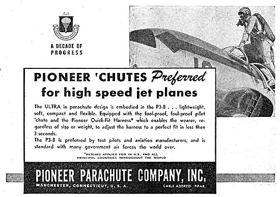 Pioneer Parachutes For High Speed Jet Aircraft