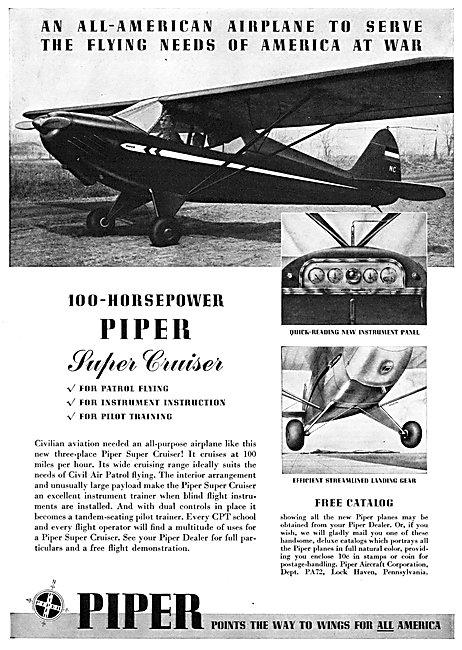 Piper Super Cruiser 1942
