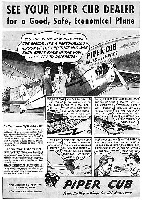 Piper Cub 1946 Advert
